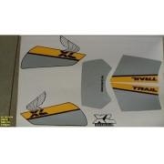 Faixa Xls 125 88 - Moto Cor Preta (107 - Kit Adesivos)