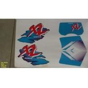 Faixa Xls 125 96 - Moto Cor Azul (197 - Kit Adesivos)