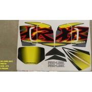 Faixa Xr 200 01 - Moto Cor Preta 470 - Kit Adesivos