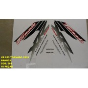 Faixa Xr 250 Tornado 03 - Moto Cor Branca - Kit 564