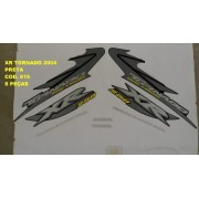 Faixa Xr 250 Tornado 04 - Moto Cor Preta - Kit 615