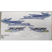 Faixa Xr 250 Tornado 05 - Moto Cor Azul (667 - Kit Adesivos)