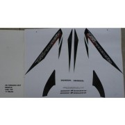 Faixa Xr 250 Tornado 07 - Moto Cor Branca - Kit 759