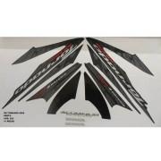 Faixa Xr 250 Tornado 08 - Moto Cor Preta - Kit 822