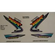 Faixa Ybr 125 02 - Moto Cor Preta (525 - Kit Adesivos)