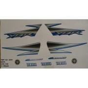 Faixa Ybr 125 05 - Moto Cor Azul (640 - Kit Adesivos)