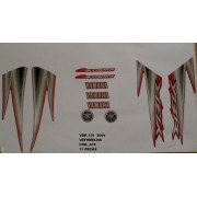 Faixa Ybr 125 06 - Moto Cor Vermelha - Kit 678