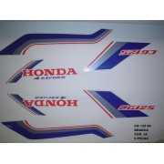 Faixas Cg 125 88 - Moto Cor Branca (24 - Kit Adesivos)