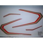 Faixas Cg 125 Ml 82 - Moto Cor Vermelha - Kit 51