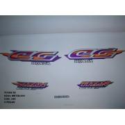 Faixas Cg 125 Titan 98 - Moto Cor Azul Met. - Kit 349