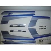 Faixas Cg 125 Today 89/90 - Moto Cor Prata - Kit 28
