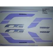 Faixas Cg 125 Today 91 - Moto Cor Preta (32 - Kit Adesivos)
