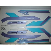 Faixas Cg 125 Today 92 - Moto Cor Azul (34 - Kit Adesivos)