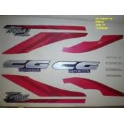 Faixas Cg 125 Today 94 - Moto Cor Preta (41 - Kit Adesivos)
