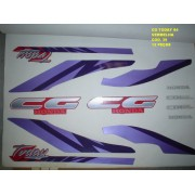 Faixas Cg 125 Today 94 - Moto Cor Vermelha - Kit 39