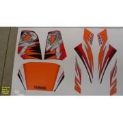 Faixas Dt 200 95 - Moto Cor Preta (368 - Kit Adesivos)