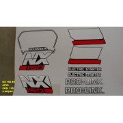 Faixas Nx 150 89 - Moto Cor Azul (155 - Kit Adesivos)