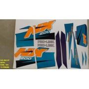 Faixas Nx 200 97 - Moto Cor Azul (183 - Kit Adesivos)