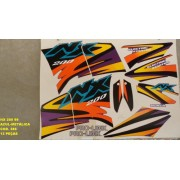 Faixas Nx 200 99 - Moto Cor Roxa Metalico - Kit 386