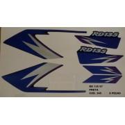 Faixas Rd 135 97 - Moto Cor Preta (345 - Kit Adesivos)