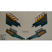 Faixas Rd 135 99 - Moto Cor Azul (393 - Kit Adesivos)