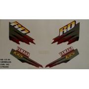 Faixas Rd 135 99 - Moto Cor Vermelha (392 - Kit Adesivos)