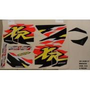 Faixas Xr 200 97 - Moto Cor Branca - Kit 334