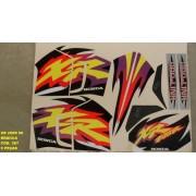 Faixas Xr 200 98 - Moto Cor Branca (387 - Kit Adesivos)