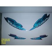 Kit Adesivos Cg 125 Titan Kse 02 - Moto Cor Azul Met. - 521