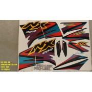 Kit Adesivos Nx 200 99 - Moto Cor Verde Metalico - Kit 385