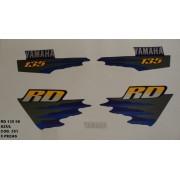 Kit Adesivos Rd 135 98 - Moto Cor Azul (351 - Kit Adesivos)