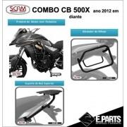 Kit Cb 500x Protetor Motor Bagageiro Afastador Alforge Scam