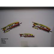 Kit De Adesivos Biz 100 99/00 - Moto Cor Preta - 402