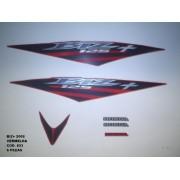 Kit De Adesivos Biz 125 + 08 - Moto Cor Vermelha - 823