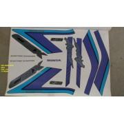 Kit De Adesivos Cbx 150 Aero 92/93 - Moto Cor Azul - 174