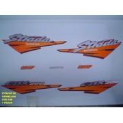 Kit De Adesivos Cbx 200 Strada 96 - Moto Cor Vermelha - 188