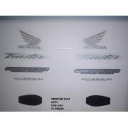 Kit De Adesivos Cbx 250 Twister 04 - Moto Cor Azul - 626