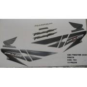 Kit De Adesivos Cbx 250 Twister 08 - Moto Cor Prata - 784
