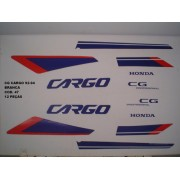 Kit De Adesivos Cg 125 Cargo 92/94 - Moto Cor Branca - 47