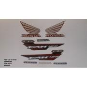 Kit De Adesivos Cg 125 Fan Ks 15 - Moto Cor Vermelha - 1179
