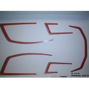 Kit De Adesivos Cg 125 Ml 86 - Moto Cor Vermelha - 58