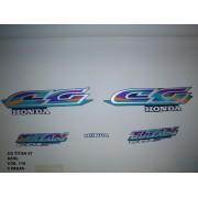 Kit De Adesivos Cg 125 Titan 97 - Moto Cor Azul 178
