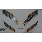 Kit De Adesivos Cg 125 Titan 99/00 - Moto Cor Vermelha - 395