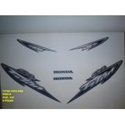 Kit De Adesivos Cg 125 Titan Kse 03 - Moto Cor Prata - 535
