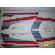 Kit De Adesivos Cg 125 Today 89/90 - Moto Cor Vermelha - 27