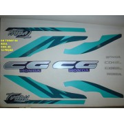 Kit De Adesivos Cg 125 Today 94 - Moto Cor Azul 40