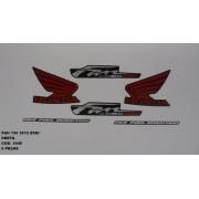 Kit De Adesivos Cg 150 Fan Esdi 12 - Moto Cor Preta - 1045