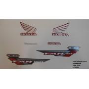 Kit De Adesivos Cg 150 Fan Esdi 14 Moto Cor Vermelha - 1146