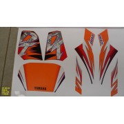 Kit De Adesivos Dt 200 95 - Moto Cor Preta (368 - Adesivos)