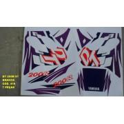 Kit De Adesivos Dt 200r 97 - Moto Cor Branca 418